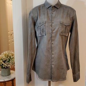 NWT le chateau Grey Large Dress Shirt Large Slim